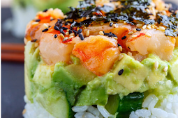 Spicy Shrimp Sushi Stacks #dinnerandlunch #recipe
