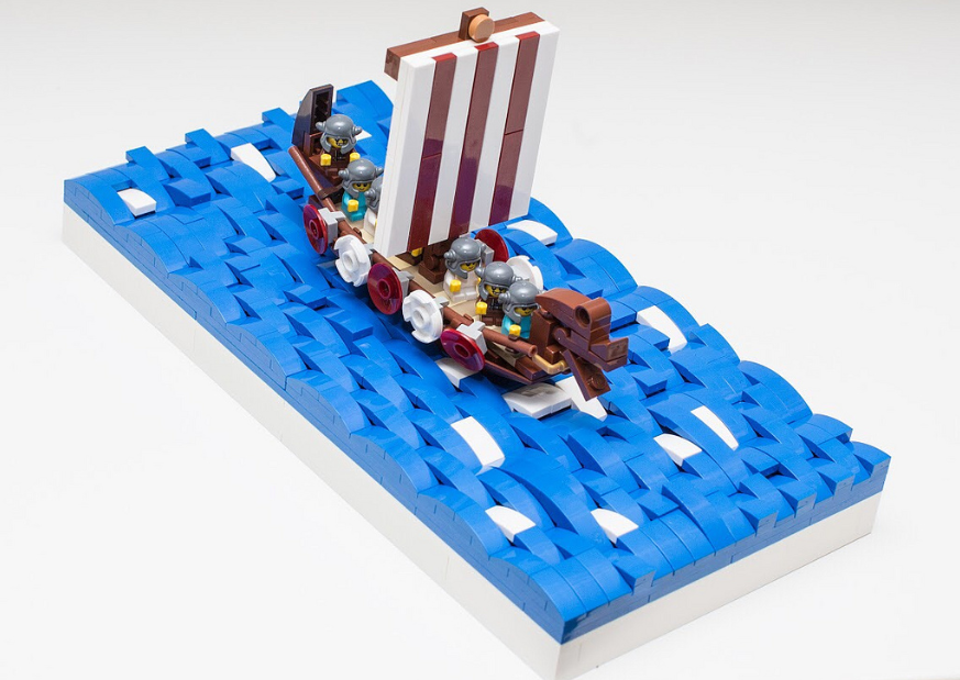 AnJ's Brick Blog: Moc Monday: Attack of the Baby Vikings!
