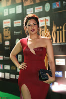 Natasha Nebasha in a Leg Slit Sleeveless Stunning Red Gown at IIFA Utsavam Awards 2017 064.JPG