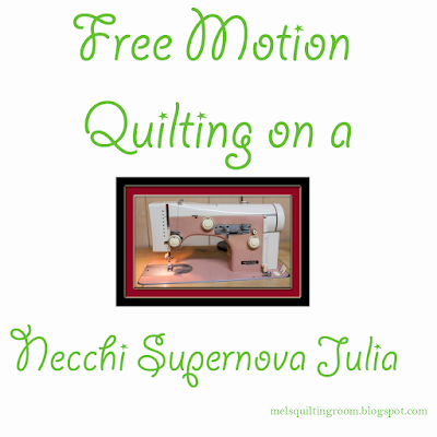 Free Motion Quilting on a vintage Necchi Supernova Julia sewing machine