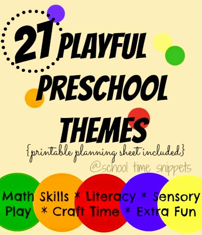 Preschool Weekly Theme Ideas