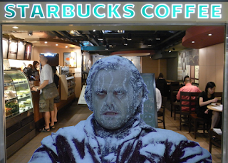 It's always cold in Starbucks Coffee shops