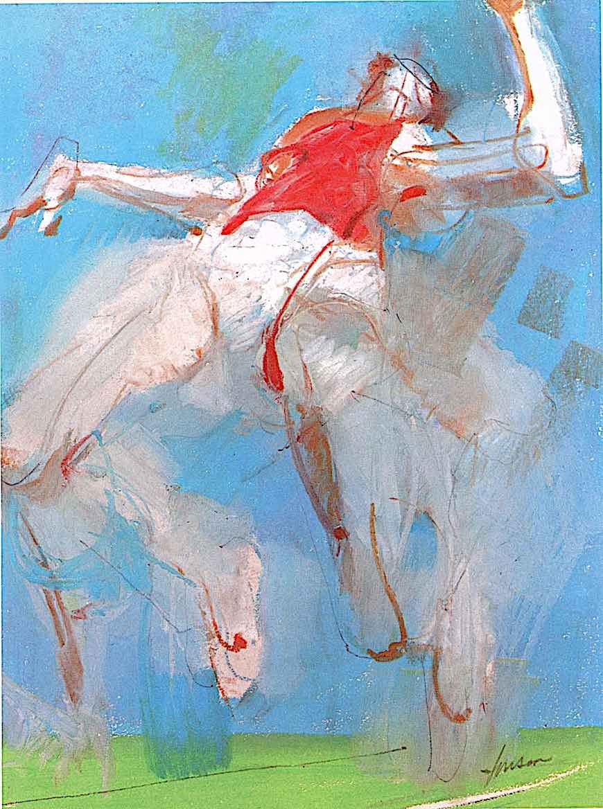 a 1960s Jim Jonson illustration of the olympics