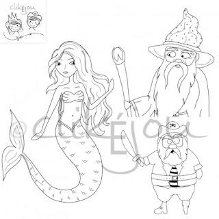 Des coloriages d'animaux, de princesse, fée et sirène, pirate, magicien et prince