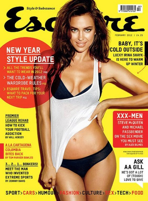 ea4eac902f088 Irina Shayk in sexy lingerie for the upcoming February issue of British  Esquire shot by Yu Tsai.