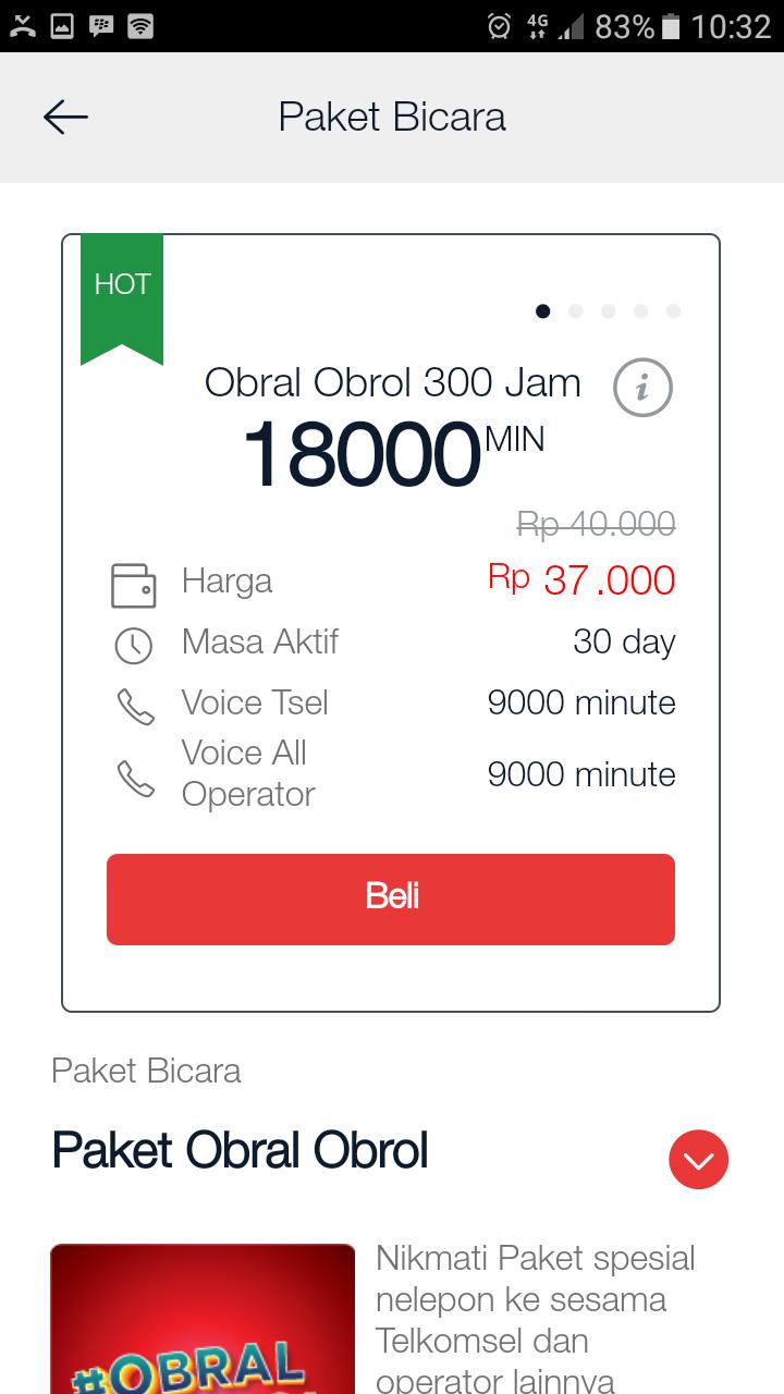 Paket Bicara Obral Obrol Telkomsel 300 Jam 18000 Menit 30 Hari Kartu Paketan 9gb Cara Mengaktifkan