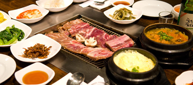 Eating Fabulously, Christopher Stewart, New Wonjo in Korean Town,