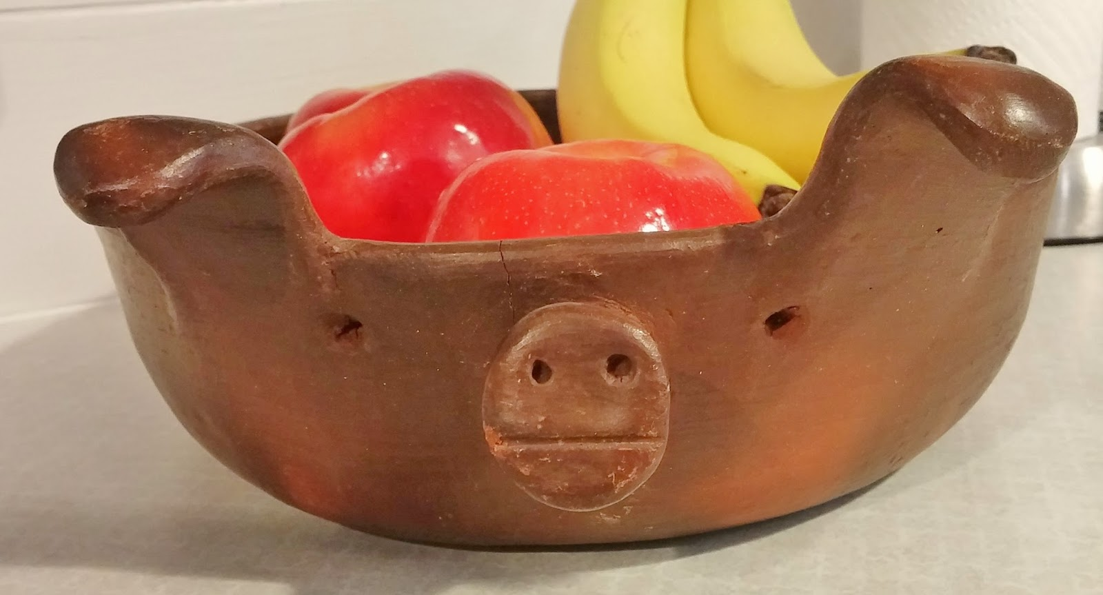 vintage pig dish