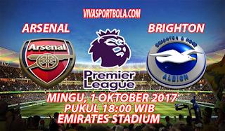 Prediksi Arsenal vs Brighton & Hove Albion 1 Oktober 2017