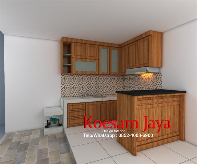 desain kitchen set solo