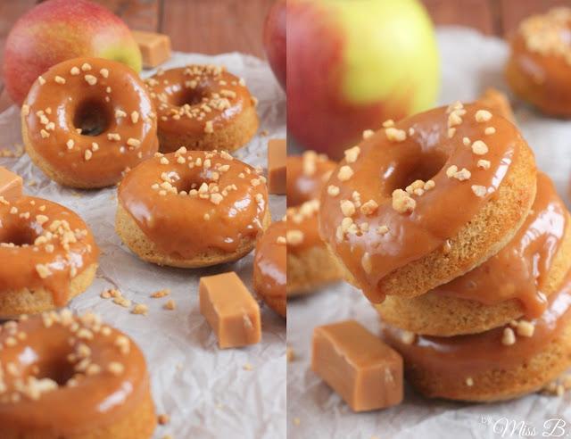 miss blueberrymuffin 39 s kitchen apfel karamell donuts aus dem backofen. Black Bedroom Furniture Sets. Home Design Ideas