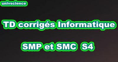 TD Informatique SMP-SMC S4 PDF