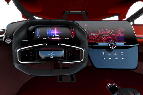 Tinuku.com Renault Trezor electric concept car sport stylish unveiled at Paris Motor Show 2016