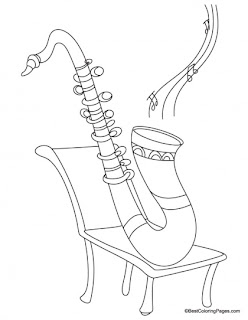 saxaphone coloring page - saxophone coloring pages kids coloring pages
