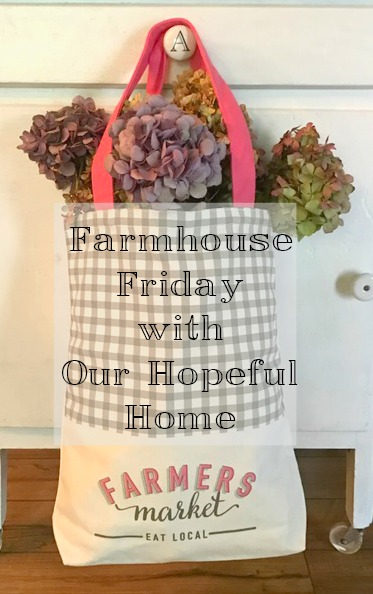 dried hydrangeas farmers market canvas bag buffalo check