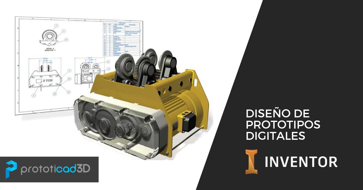 Diseño de prototipos digitales con Autodesk Inventor