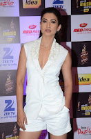 Actress Gauhar Khan  Pictures in White Shorts at Mirchi Music Awards 2016  0002.jpg