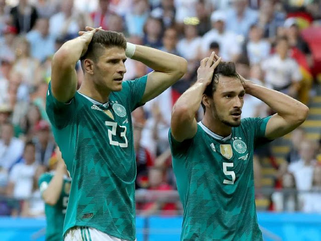 Mario Gomez of Germany and Mats Hummels