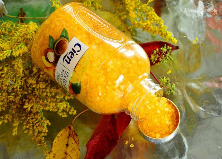 Lidl Cien Odżywcza sól do kąpieli Mango&Makadamia