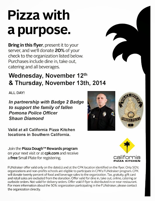 Fundraiser for Pomona PD Officer Shaun Diamond
