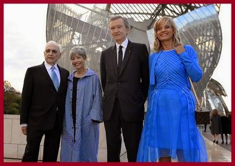Berta Isabel Aguilera fondation louis vuitton em paris: festa na inauguração.