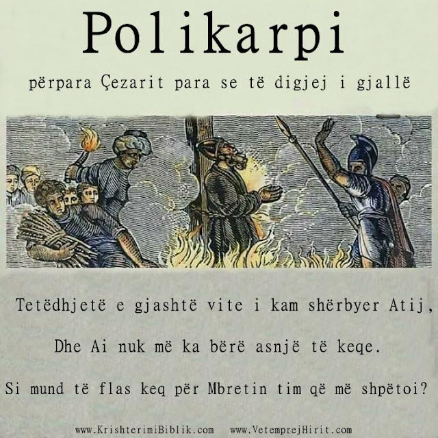 Polikarpi, cecari, martire, thenie biblike te krishtera, persekutimi,