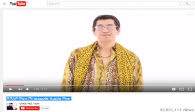 Fenomena Video Youtube PPAP Pen Pineapple Apple Pen Yang hits di kalangan netizen