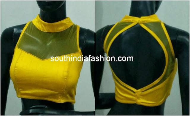 blouse back neck models