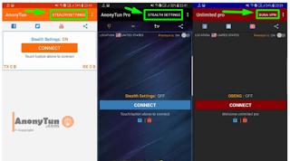 Cara Setting Anonytun Videomax Terbaru Beserta BUG Telkomsel 2019