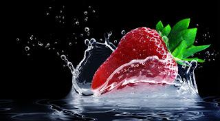 buah stroberi baik untuk hair