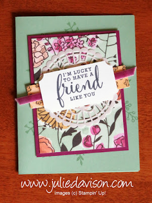 Stampin' Up! On Stage April 2018 Make & Take: Love What You Do Card ~ www.juliedavison.com
