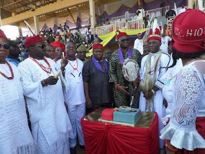 Fayose gets a Chieftaincy title from the Ohanaeze Ndigbo
