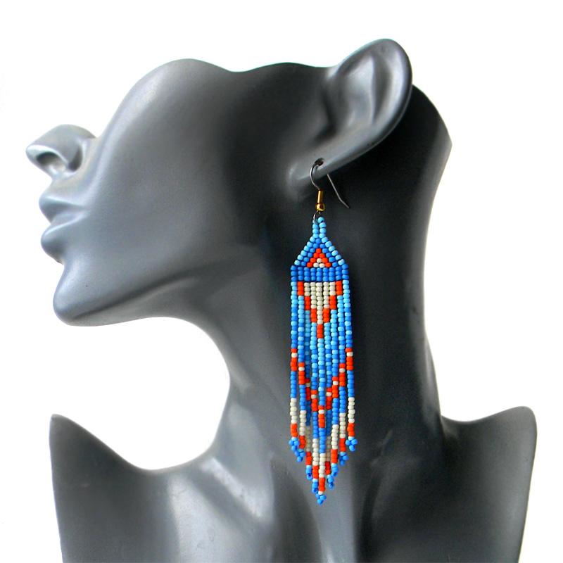 Серьги из бисера - украшения ручной работы в этническом стиле