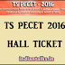 Telangana TS PECET Hall Ticket 2016 Admit Card Download