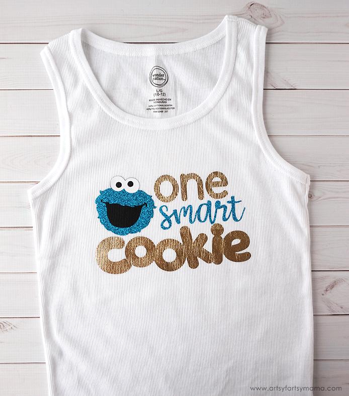 "DIY ""One Smart Cookie"" Cookie Monster Shirt"