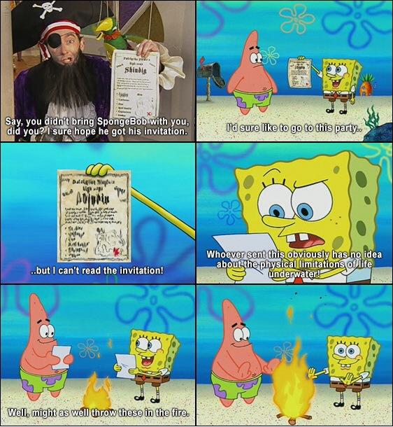 Underwater physics 101 courtesy of Spongebob