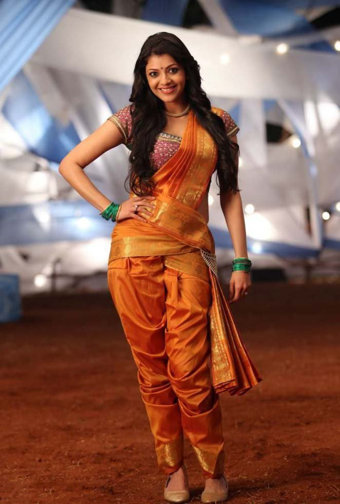 Kajal Agarwal - Love You: Kajal Agarwal - Orange Silk ...