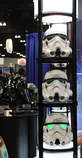 Stormtrooper helmets on display