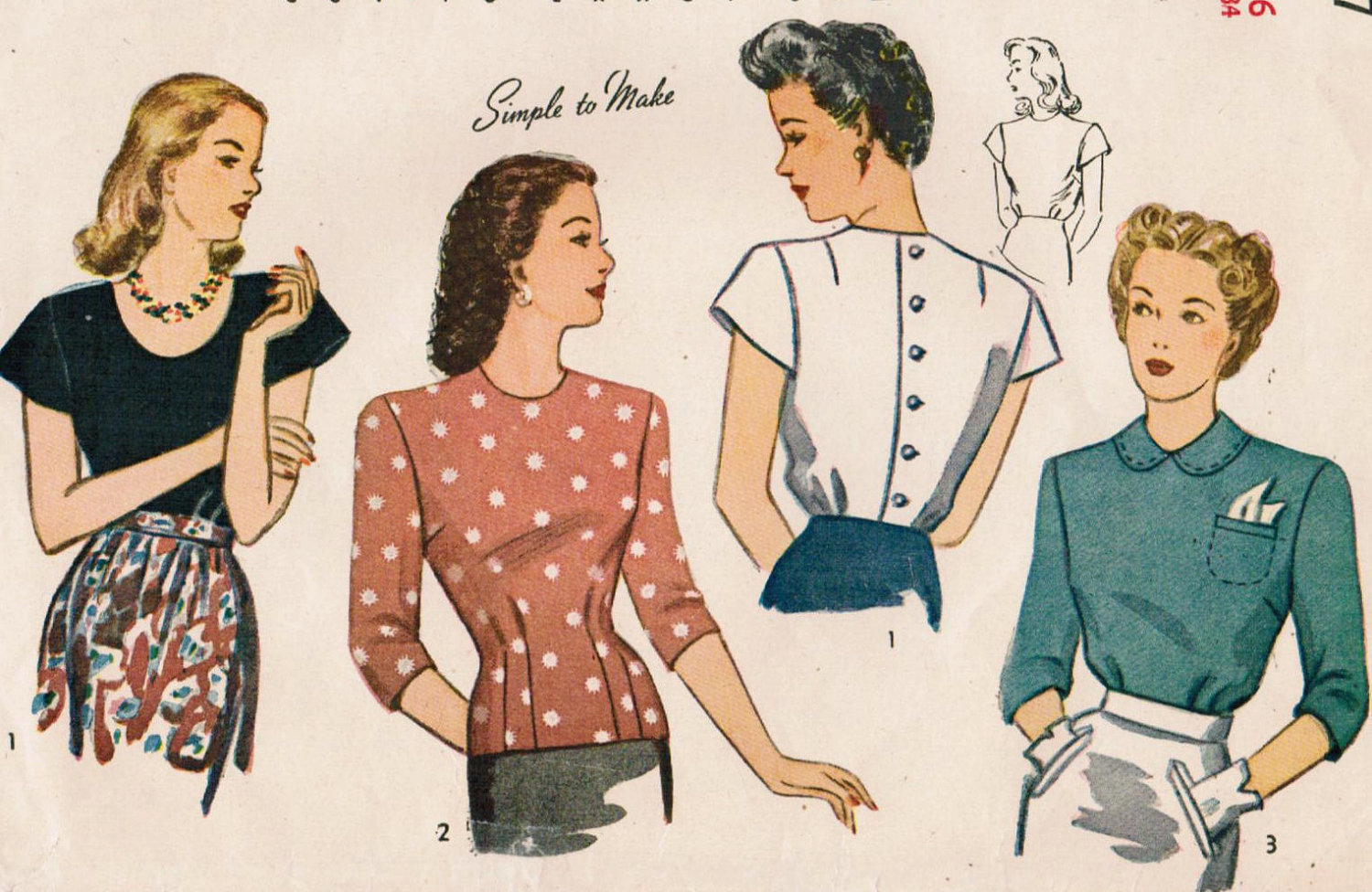 Elif's Blog: Let's Look 1940's Fashion Trends With Vintage ...