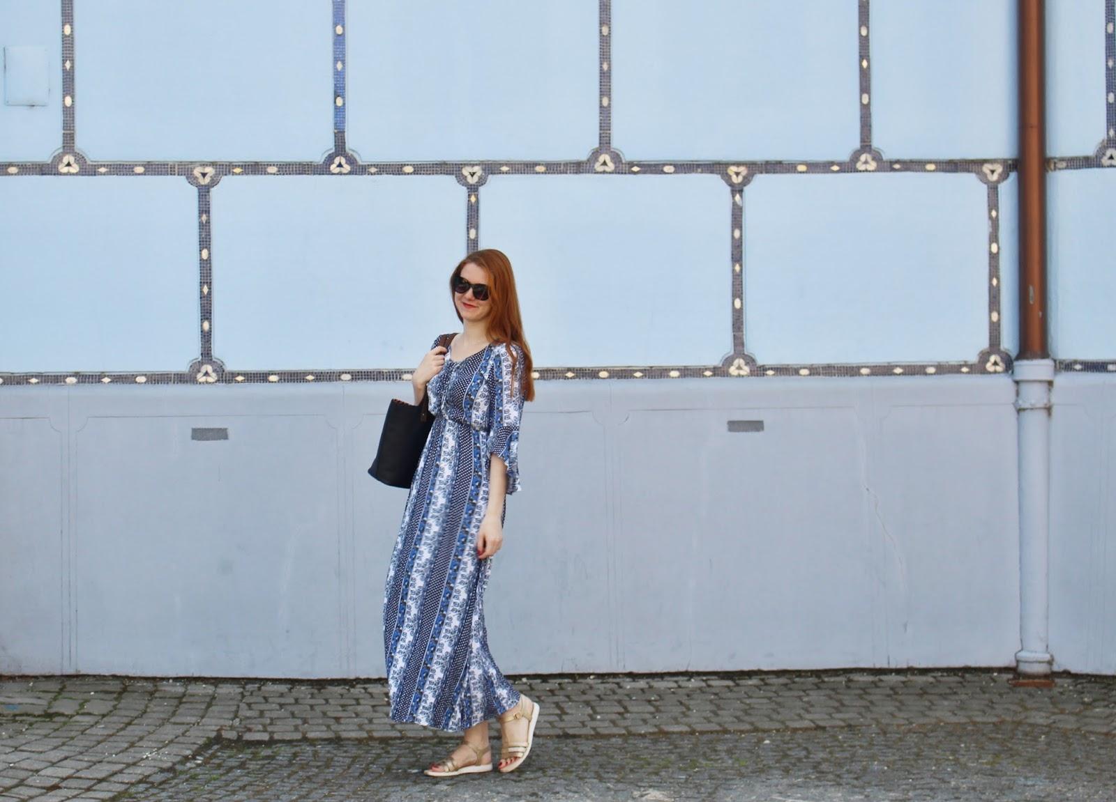 style without limits, lucie srbová, česká blogerka, blue dress, bratislava
