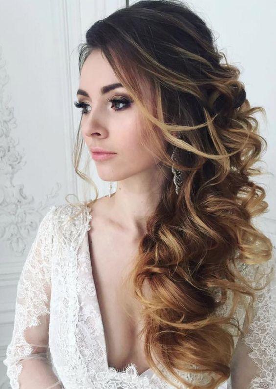 pelo largo novia por correo flaco