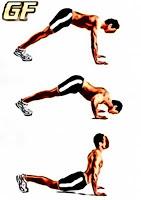 latihan otot punggung Diver push up