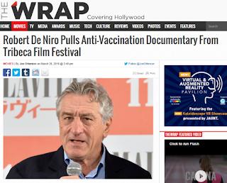 Robert de Niro amenazado por la mafia farmacéutica