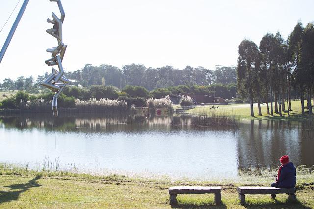 lago escultura fundacion pablo atchugary uruguai