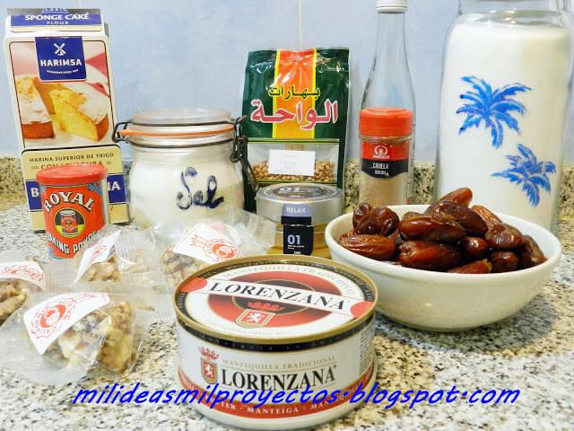 receta de mamoul de datiles