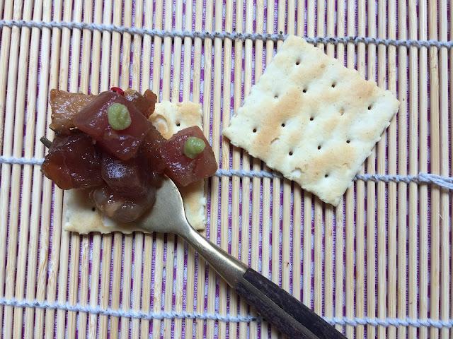 tartar de atún con mayonesa de wasabi receta