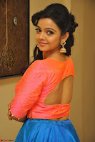 Nithya Shetty in Orange Choli at Kalamandir Foundation 7th anniversary Celebrations ~  Actress Galleries 067.JPG