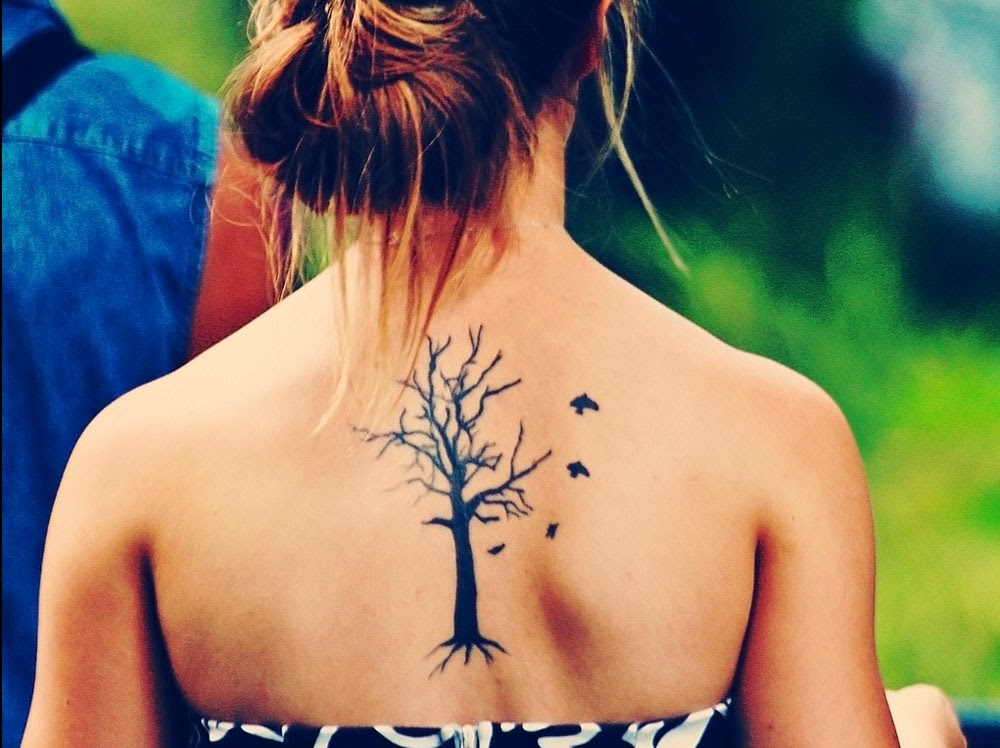 Tree Tattoo Girl Wallpaper