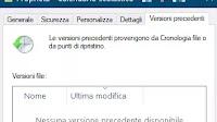Recuperare versioni precedenti dei file in Windows 10