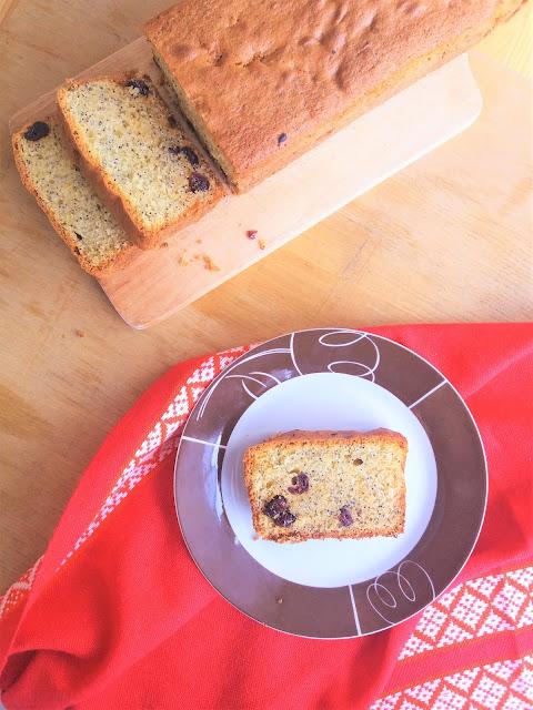 Babka z makiem i żurawiną / Cranberry Poppy Seed Bread
